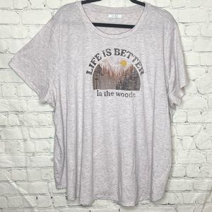 """Maurices graphic tee """"life is better in the woods"""""""